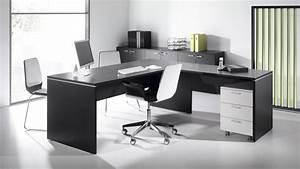 Bureau Noir Et Blanc : bureaux blanc et noir montpellier 34 n mes 30 agde ~ Melissatoandfro.com Idées de Décoration