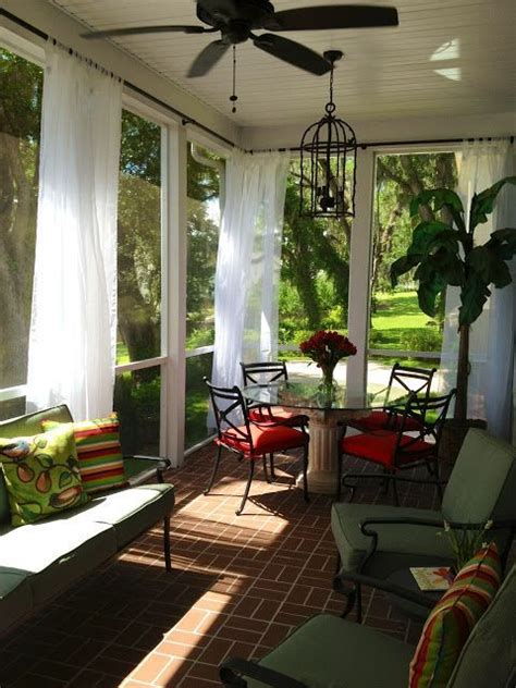 Screened Patio Curtain Decorating Ideas Screened Porch