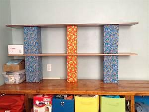 Fabric, Covered, Cinder, Blocks, Wood, Shelves, My, New, Dresser
