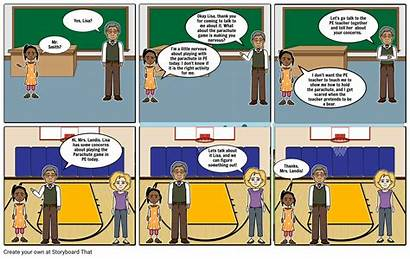 Comic Story Storyboard Remote Learning Slide