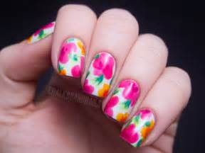 China glaze summer neons nail art hawaiian floral