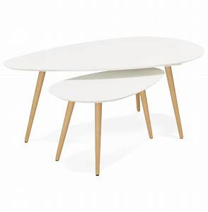 Table Gigogne Scandinave : table basse gigogne blanche scandinave rebro ~ Teatrodelosmanantiales.com Idées de Décoration