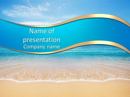 sea summer powerpoint template backgrounds id