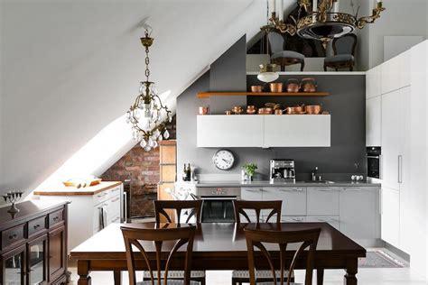 elegant interior desing   attic apartment