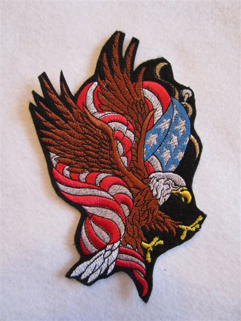 eagle applique embroidered american eagle and flag applique patch