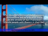 San Francisco-Scott Mckenzie (Lyrics)---R.I.P Scott ...