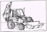 Backhoe Loader Sketch Coloring Pages Figure Paintingvalley Template Sketches sketch template