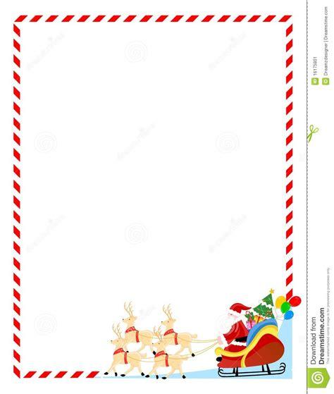 Christmas Santa Clip Art Borders