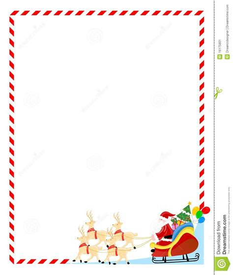 santa background borders  letter