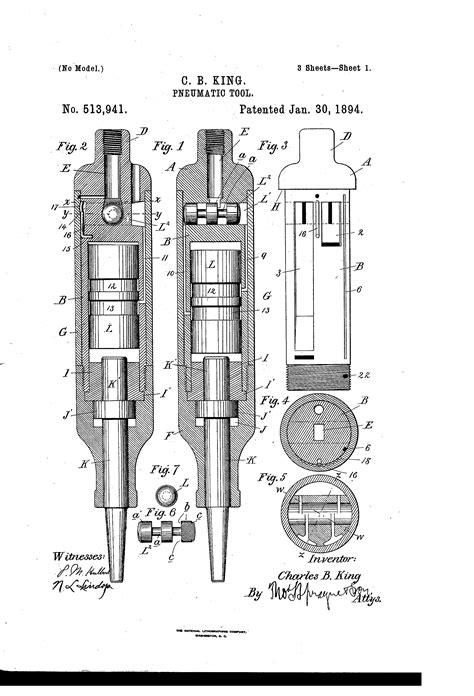 Patent US513941 - Pneumatic tool - Google Patents
