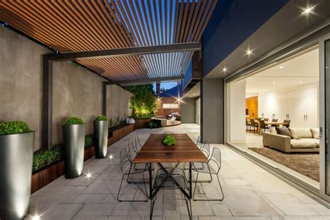 fresh modern patio designs courtyard