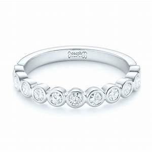 Custom Bezel Set Diamond Wedding Band 102474