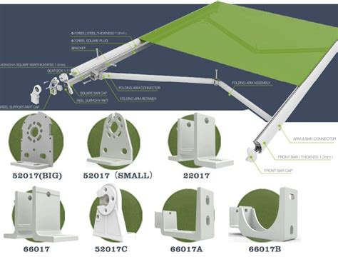 High Quality Outdoor Retractable Awnings Parts For Sale
