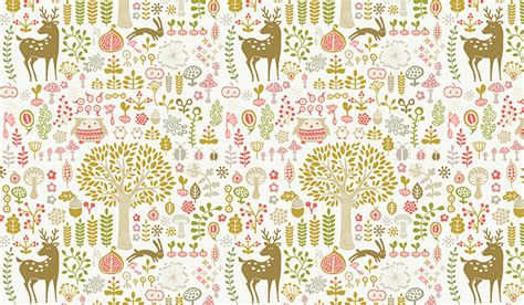 Woodland Animal Wallpaper - woodland animals wall mural patterned wallpapers custom