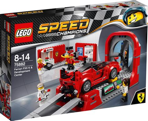 Prepare the mighty lego® speed champions ford mustang gt for a desert race. LEGO Speed Champions Ferrari FXX K & Development Center - 75882 - Bouwsteentjes.info