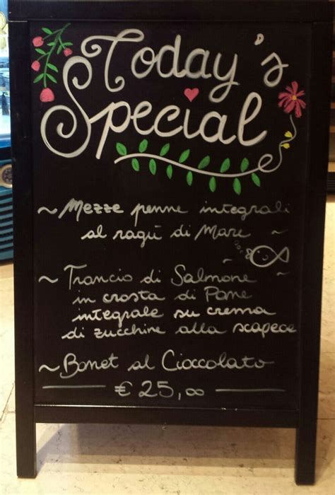 blackboard frame menu todays special calligraphy chalk