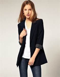 Lyst - Asos Collection Asos Boyfriend Blazer in Blue