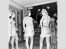 Backstage at the Underwear Show, 1940s