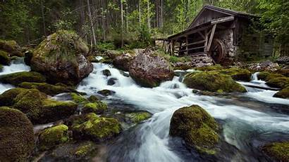Forest Water Mill Desktop Naturewallpapers Afkomstig Biz