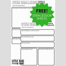 Stem Challenge Worksheets {free Printable}  Little Bins For Little Hands