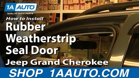 install replace rubber weatherstrip seal door jeep
