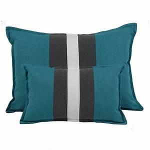 Coussin Gris Et Blanc : coussins bleu ~ Melissatoandfro.com Idées de Décoration