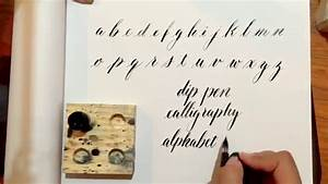 writing a modern calligraphy alphabet with a 2 speedball With speedball calligraphy dip pen oblique lettering set