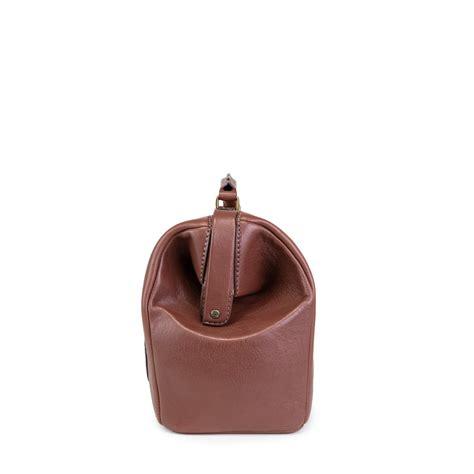 leather doctors bag  metal frame