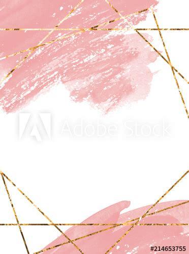 invitation card watercolor design soft pink watercolor