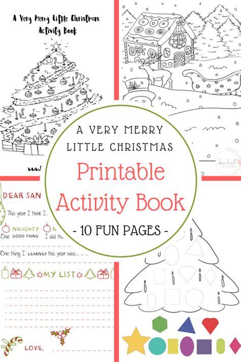 christmas printable activity book kendallrayburn com