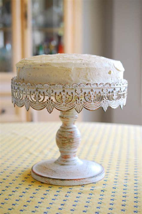 cake stand white metal