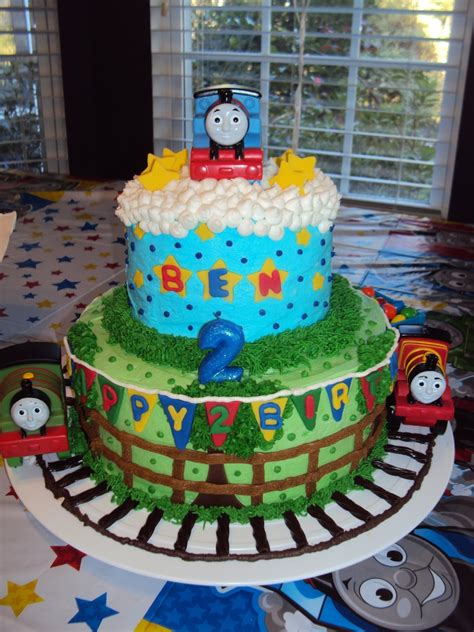 thomas  train birthday cake cakecentralcom