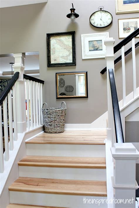 Organize Kitchen Ideas - hickory hardwood flooring and staircase makeover