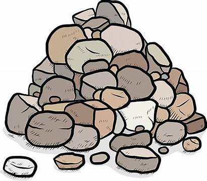 Rocks Stack Vector Pile Clipart Clip Illustration