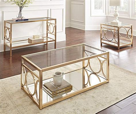 This fantastic collection of side tables, coffee tables, and end tables transforms your living space give your family room a whole new look with these great deals on console tables and side tables. Olympia Accent Table Collection   Big Lots   3 piece coffee table set, Coffee table, Coffee ...