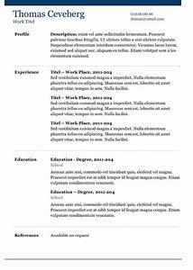 Blue line resume