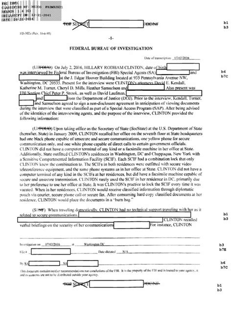 I'll highlight all the necessary steps and requirements for this. Hillary Clinton Emails FBI Interview OCR   Hillary Clinton ...