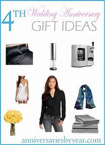 fourth anniversary 4th wedding anniversary gift ideas With 4th wedding anniversary gift ideas