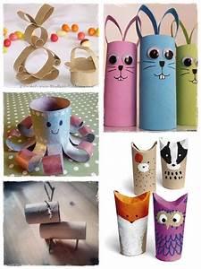 Bricolage A Faire Avec Des Petit : 60 bricolages avec des rouleaux de papier toilette la ~ Melissatoandfro.com Idées de Décoration