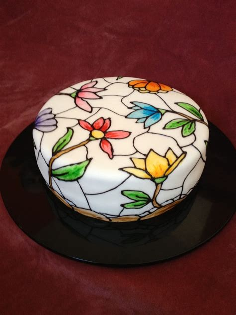 glass cake decoration stained glass cake cakecentral