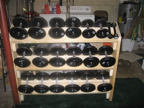 dumbbell rack bodybuildingcom forums home gym fitness pinterest homemade  ojays