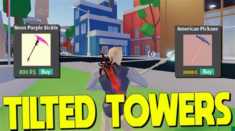 tilted towers map update  strucid coin pickaxe