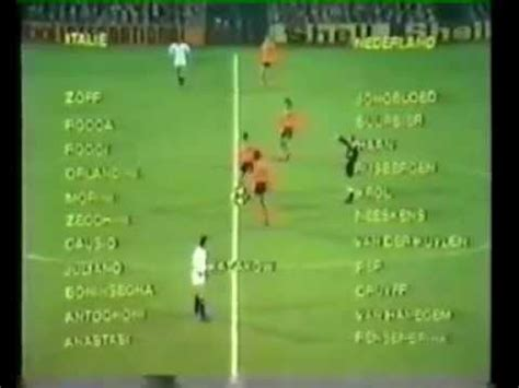 1974 GERMANIA-OLANDA COMMENTO ORIGINALE DI MARTELLINI - YouTube