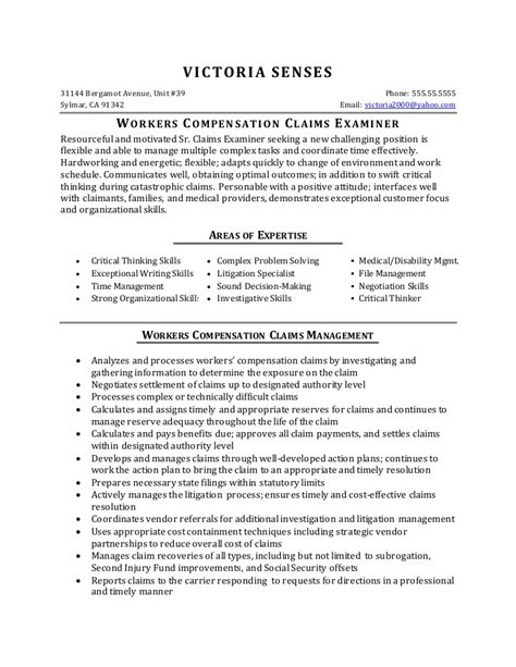 Sle Worker Resume by Workers Compensation Resume Bijeefopijburg Nl