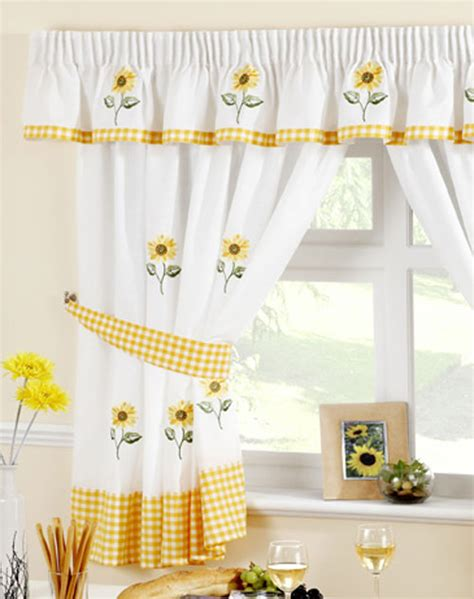 white kitchen curtains with sunflowers sunflower kitchen curtain curtain design