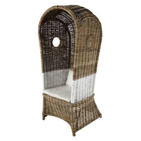fauteuil avec dossier haut rotin maison du monde happy