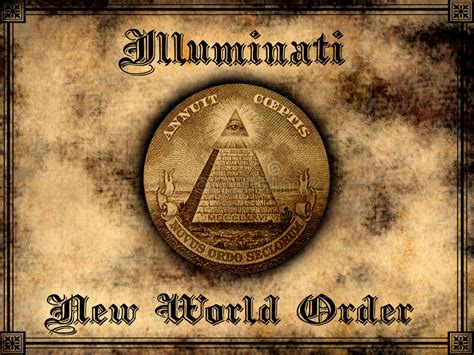 nwo illuminati illuminati new world order stock illustration