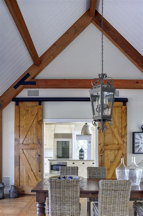 Barn Door For House by 25 Diverse Dining Rooms With Sliding Barn Doors