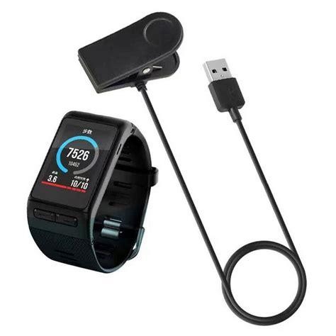 Charger Clip Sync Data Charge Cable For Garmin Vivoactive