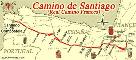 camino pilgrimage map a mused el camino de santiago a map of the pilgrimage